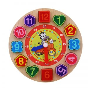 Learning Clock Kids Wooden Toy