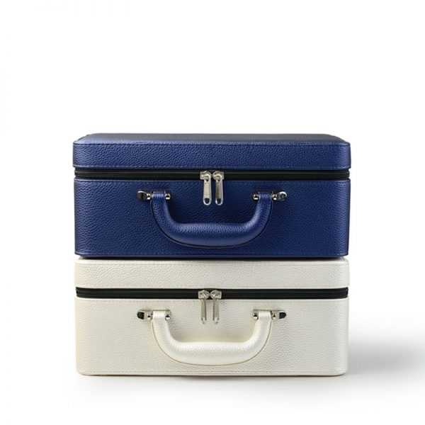 Leather Jewelry Box Portable Case