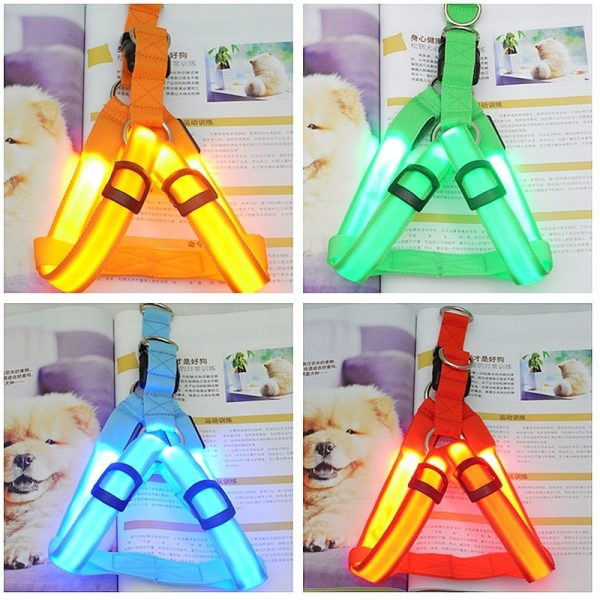 Light Up Dog Harness Rechargeable Light