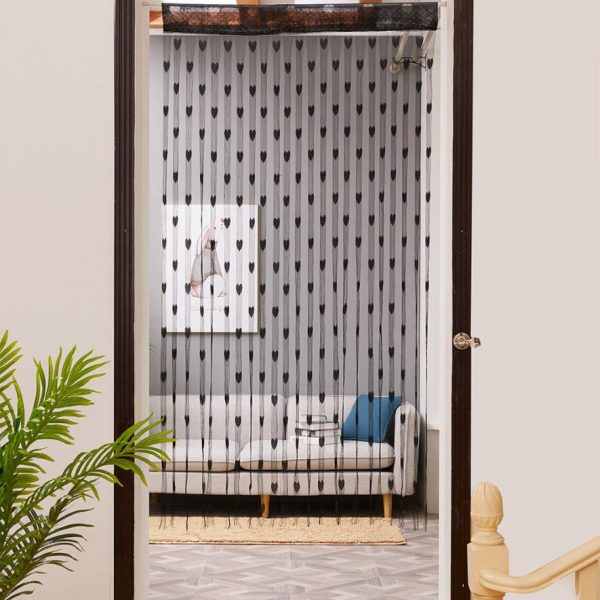 Living Room Curtains Modern Heart Tulle