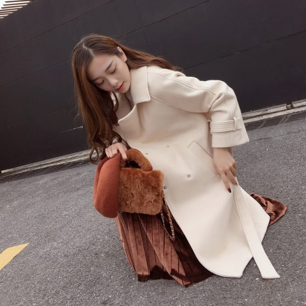Long Overcoat For Ladies Fashion Apparel 1