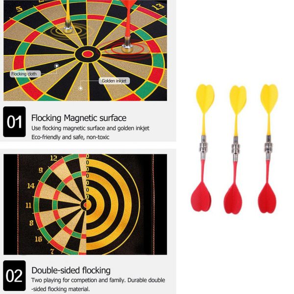 Magnetic Dart Board with 6PCS Darts 3