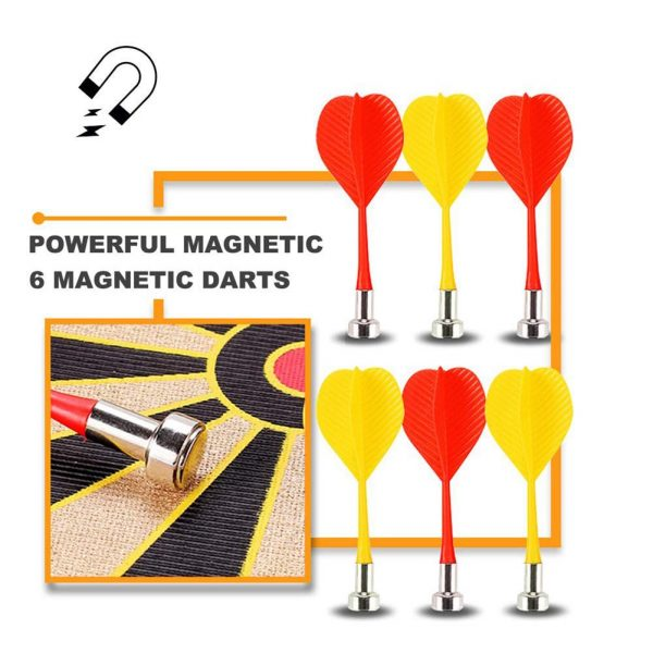 Magnetic Dart Board with 6PCS Darts 4