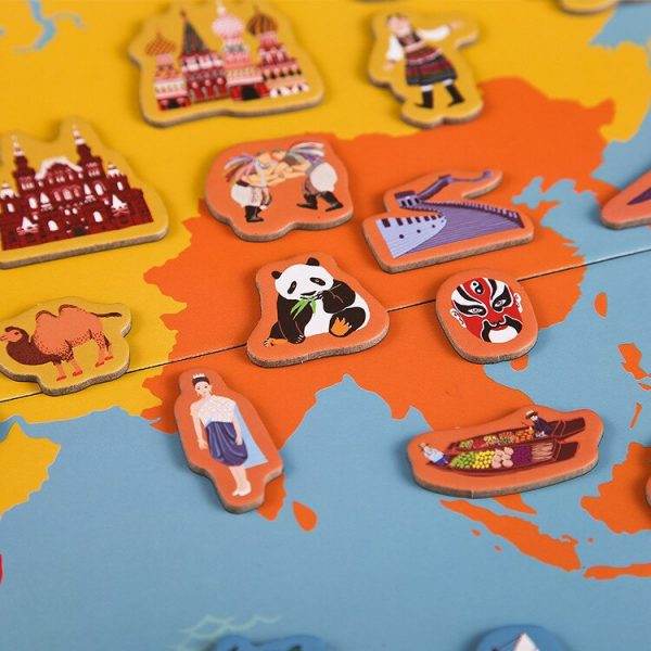 Magnetic World Map Kids Map