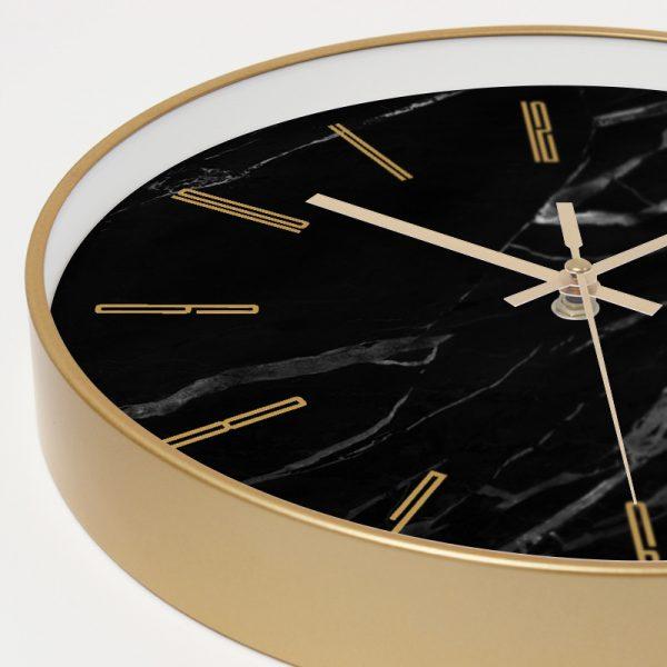 Marble Wall Clock Simple Decorative Creative Nordic Modern Marble Metal Clock 1Pcs 4
