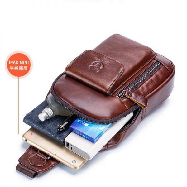 Mens Crossbody Bag Leather Handbag