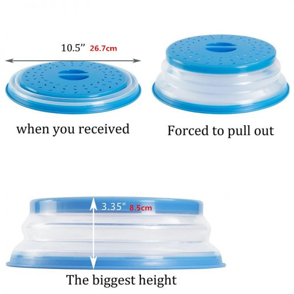 Microwave Cover Collapsible Oven Lid 1