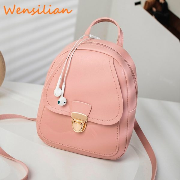 Mini Backpack For Women Leather Bag 3