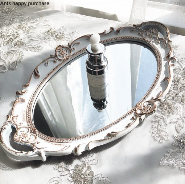 Mirrored Serving Tray Metal Material