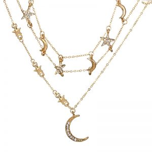 Moon And Star Necklace Bohemian Style