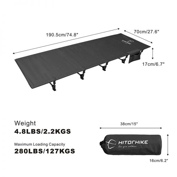 Outdoor Folding Cot Bed 1