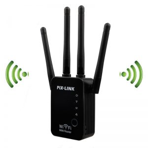 PIXLINK WR16 300Mbps 2.4GHz Hot Wifi Repeater Wireless Four Antenna Router Range Extender Signal Booster
