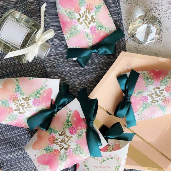 Paper Gift Bags 5pcs Small Pouches 3