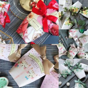 Paper Gift Bags 5pcs Small Pouches