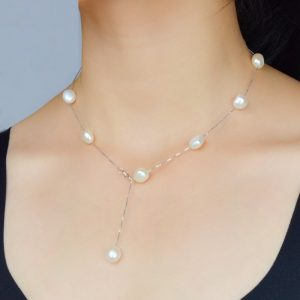 Pearl Necklace Natural Freshwater Pearls