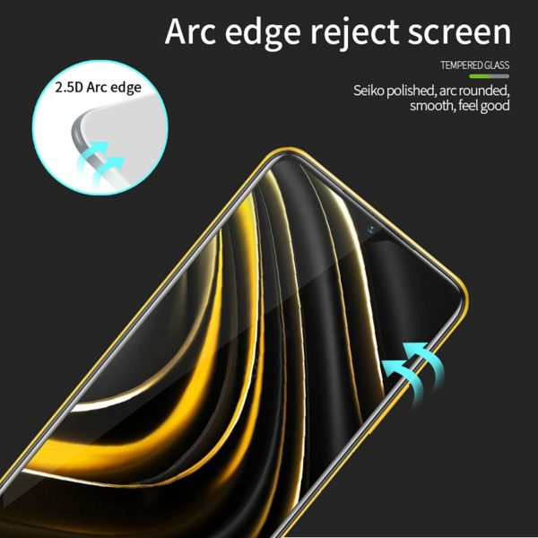 Pinwuyou for POCO M3 Front Film 9H Anti Explosion Anti Fingerprint Full Coverage Tempered Glass Screen Protector 4
