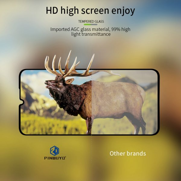 Pinwuyou for POCO M3 Front Film 9H Anti Explosion Anti Fingerprint Full Coverage Tempered Glass Screen Protector 6