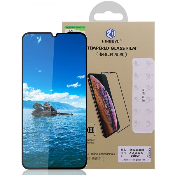 Pinwuyou for POCO M3 Front Film 9H Anti Explosion Anti Fingerprint Full Coverage Tempered Glass Screen Protector 8