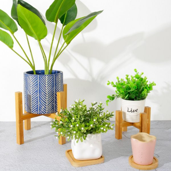 Plant Pot Stand Wooden Rack 1