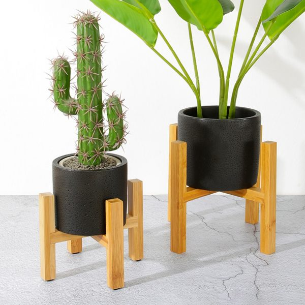 Plant Pot Stand Wooden Rack 2