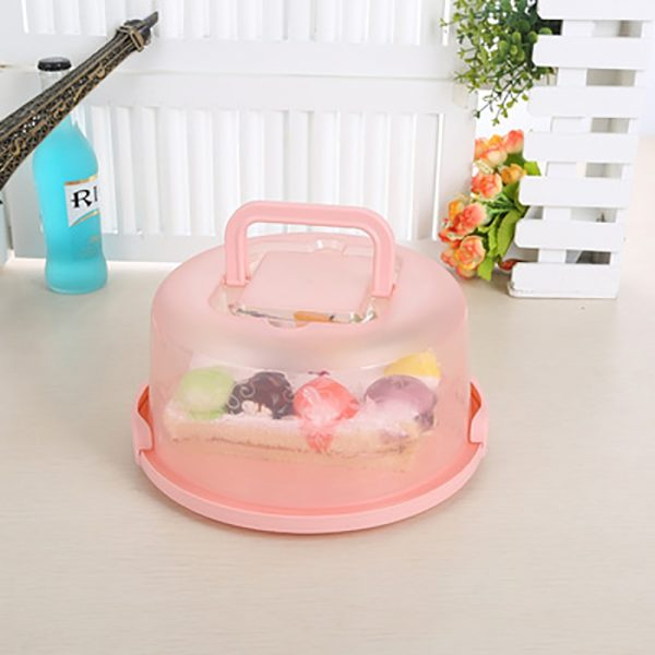 Plastic Cake Container with Handles 3