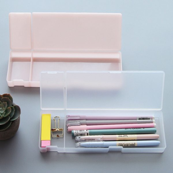 Plastic Pencil Box Frosted Case 1