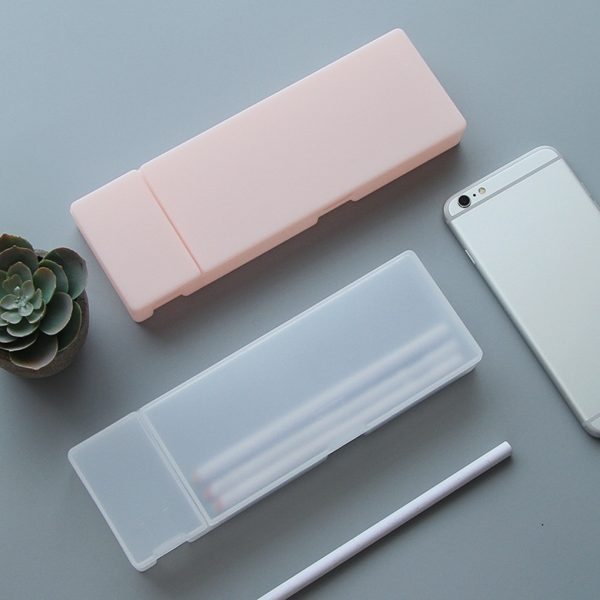 Plastic Pencil Box Frosted Case 2