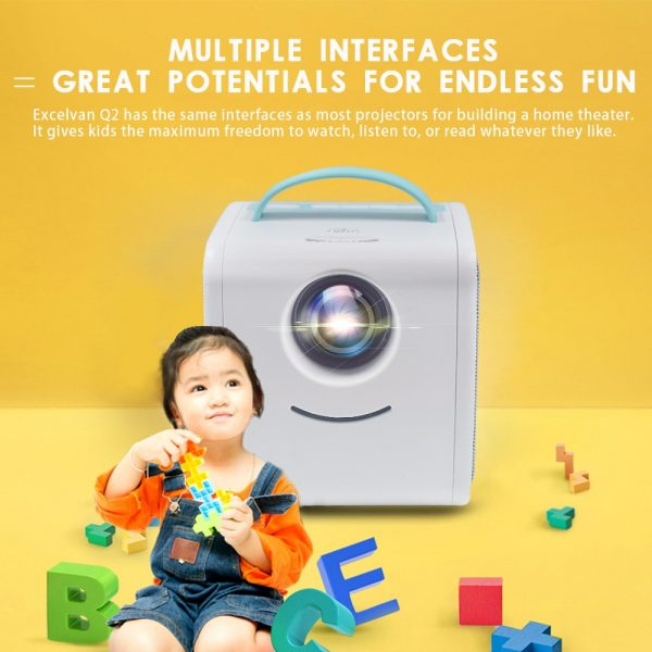 Portable Projector LED Kids' Player