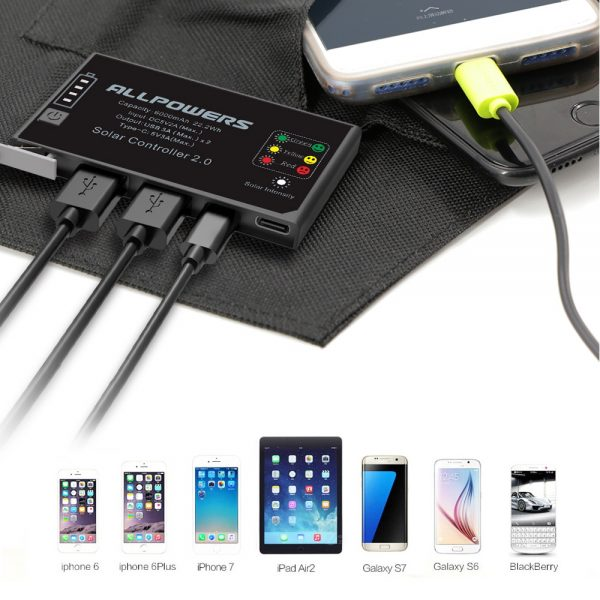 Portable Solar Panels Cellphone Charger