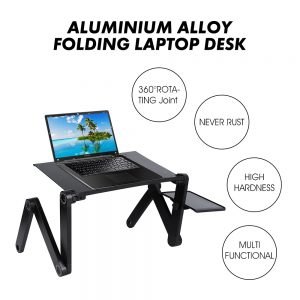 Portable and Adjustable Laptop Desk Stand