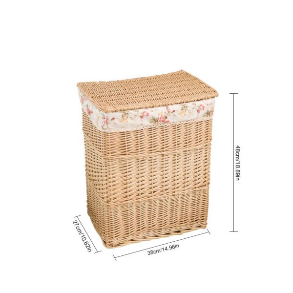 Rattan Laundry Basket with Lid 1