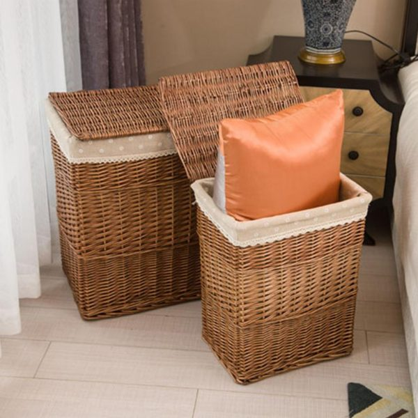 Rattan Laundry Basket with Lid 3