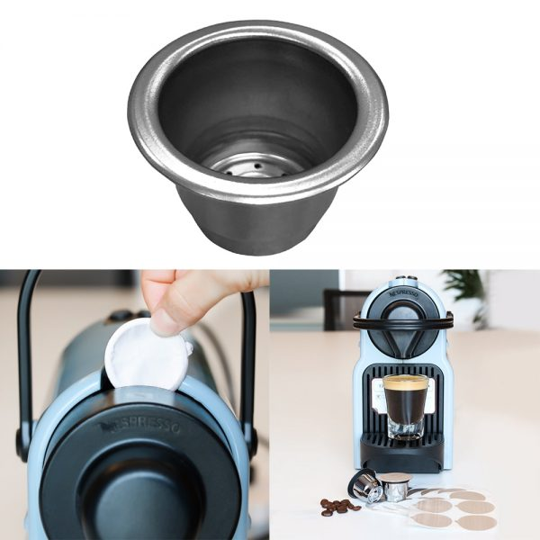 Reusable Coffee Capsule Stainless Steel Pod