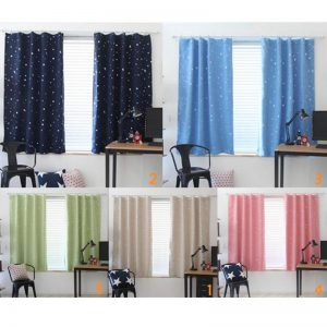Room Curtains With Star Pattern