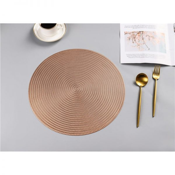 Round Placemats PVC Table Mats 1
