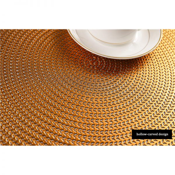 Round Placemats PVC Table Mats 2