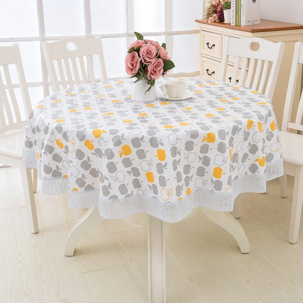 Round Tablecloth Waterproof Cover 1