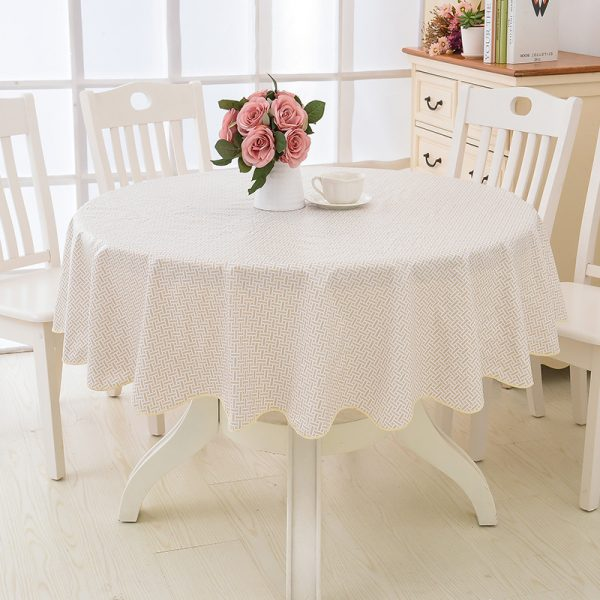 Round Tablecloth Waterproof Cover 2