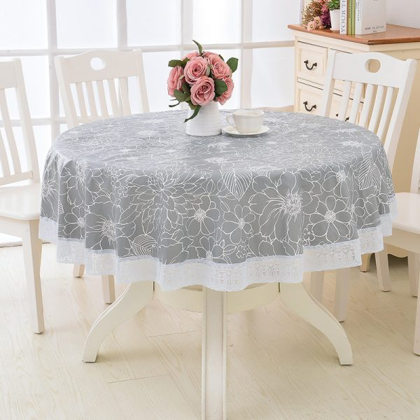 Round Tablecloth Waterproof Cover