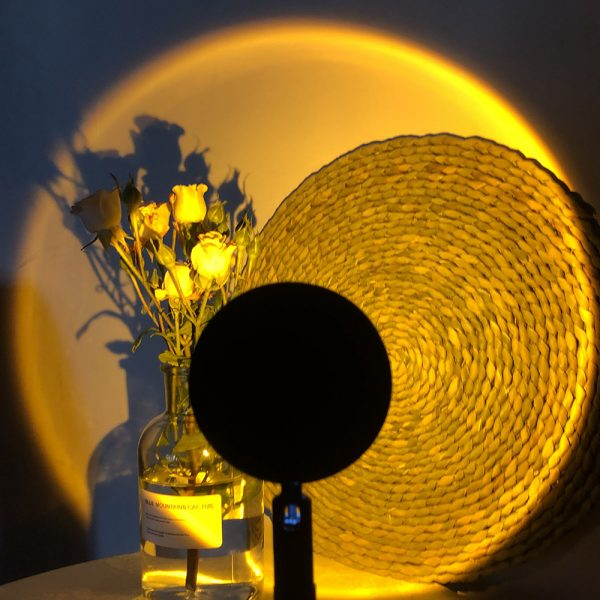 Setting sun projection light atmosphere warm LED lamp