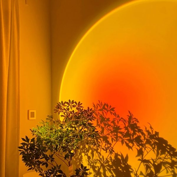Setting sun projection light atmosphere warm LED lamp 5