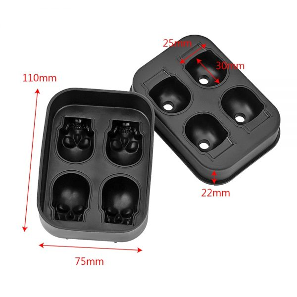 Silicone Ice Cube Trays 3D Skull 1