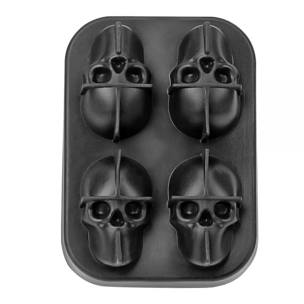 Silicone Ice Cube Trays 3D Skull 3