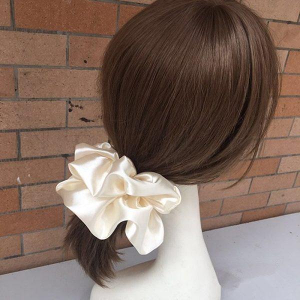 Silk Scrunchie Oversized Hair Accessory
