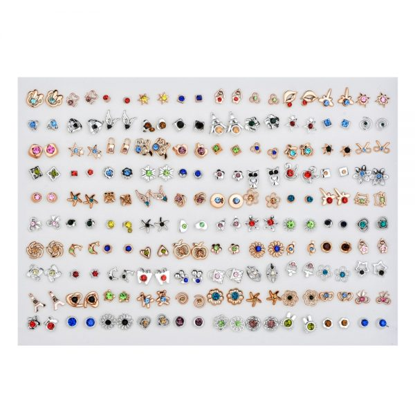 Small Earrings 100pairs Jewelry Set 2