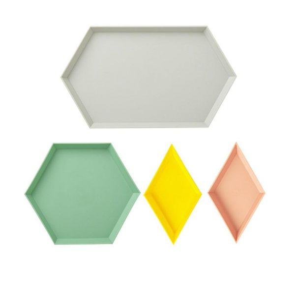 Snack Tray Stackable Geometric Shapes 4pcs 2