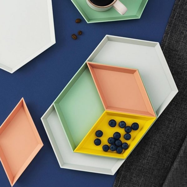 Snack Tray Stackable Geometric Shapes (4pcs)