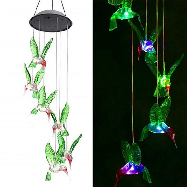 Solar Color-Changing Wind Chime Light