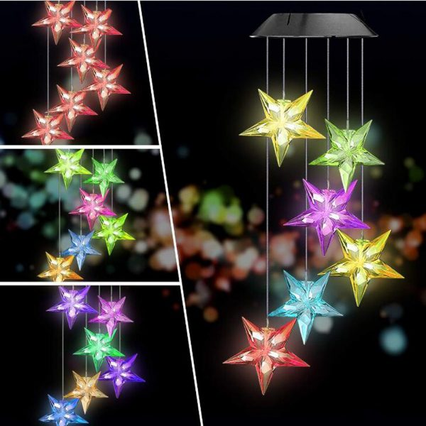 Solar Color Changing Wind Chime Light 5