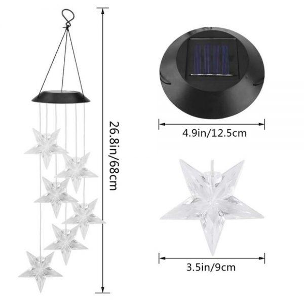 Solar Color Changing Wind Chime Light 6